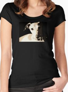 Poster of an Italian Greyhound Portrait Women's Fitted Scoop T-Shirt