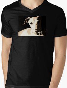 Poster of an Italian Greyhound Portrait Mens V-Neck T-Shirt