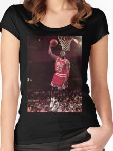 michael jordan chicago bulls Women's Fitted Scoop T-Shirt