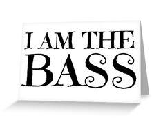 Rock Bass Guitar Music Musician Greeting Card