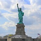 Lady Liberty and Our Flag by Katagram