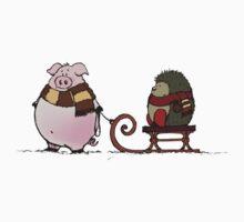 Pig and hedgehog Kids Tee