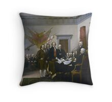 Declaration of Independence by John Trumbull (1819) Throw Pillow
