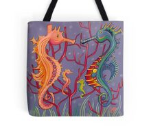 Seahorse Family Tote Bag