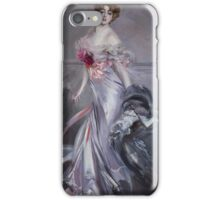 Giovanni Boldini, Vittorio Corcos, the governess to the Elysian Fields, iPhone Case/Skin