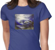 Mother and Son Manatees  Womens Fitted T-Shirt