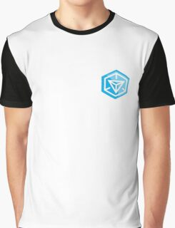Ingress Game Logo over left Breast - Blue (Resistance) Graphic T-Shirt