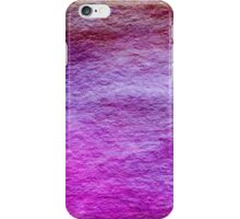Magenta Hot Pink Raspberry Red Watercolor Wash Background Pattern iPhone Case/Skin