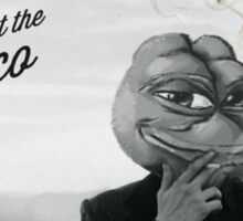 Pepe at the disco Sticker