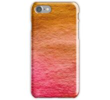 Yellow Pink Red Orange Watercolor Wash Background Pattern iPhone Case/Skin
