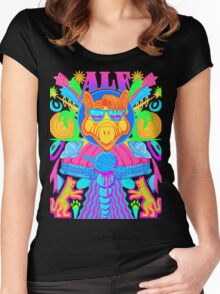 Psychedelic ALF Women's Fitted Scoop T-Shirt