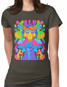 Psychedelic ALF Womens Fitted T-Shirt