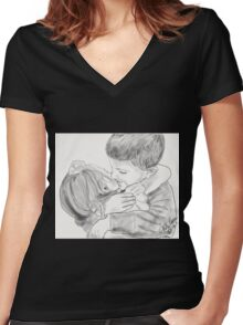 Siblings Women's Fitted V-Neck T-Shirt