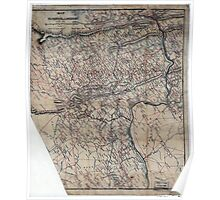 169 Map of Fauquier Loudon sic cos Va Poster