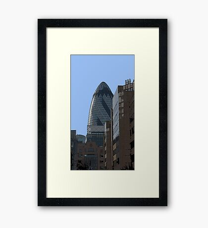 The Gherkin aka 30 St Mary Axe Framed Print