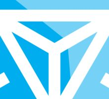 Ingress Game Logo - Blue (Resistance) Sticker