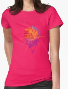 Snow Cone Summer Typography Womens Fitted T-Shirt