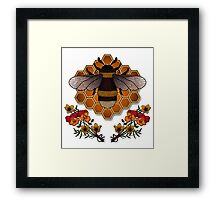 The Bumble Bee & his Honeycomb Framed Print