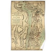 American Revolutionary War Era Maps 1750-1786 240 A plan of the operations of the King's army under the command of General Sr William Howe KB in New York and Poster