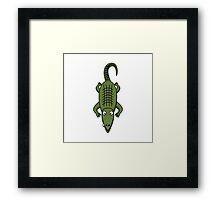 Cartoon Alligator Framed Print