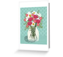 Vase of Daisies illustration Mother's Day art print Andrea Lauren Floral flowers spring summer garden Greeting Card