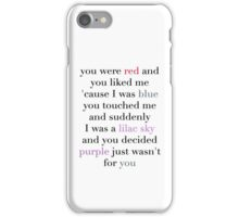 Halsey / Colors iPhone Case/Skin