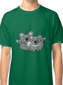 sweet little baby koala cute mamapapa 2 children couple sitting family Classic T-Shirt