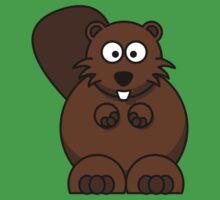 Cartoon Beaver Kids Tee
