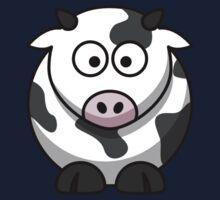 Cartoon Cow One Piece - Short Sleeve