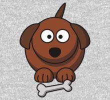 Cartoon Dog One Piece - Short Sleeve