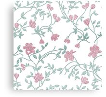 Floral Embroidery Pattern Canvas Print