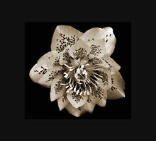 Sepia Image of a Double Christmas Rose Unisex T-Shirt