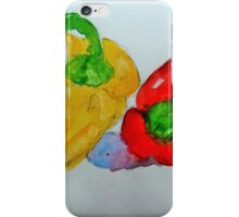 Red and Yellow Peppers iPhone Case/Skin