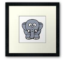Cartoon Elephant Framed Print