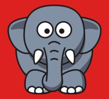 Cartoon Elephant Kids Tee