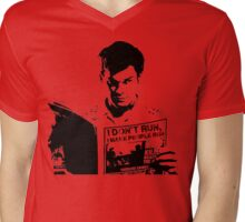 Dexter I don't Run, I make people run Mens V-Neck T-Shirt