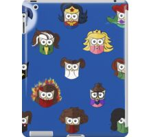 Nerd Girl (Owls) - Blue iPad Case/Skin