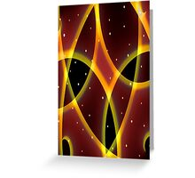 Red Space Greeting Card
