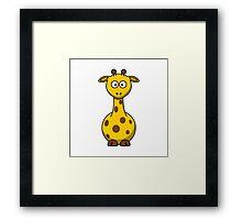 Cartoon Giraffe Framed Print