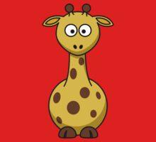 Cartoon Giraffe One Piece - Short Sleeve