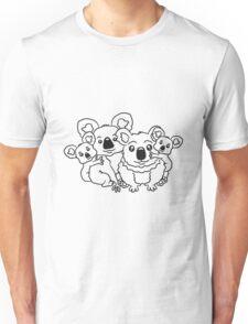 sweet little baby koala cute mamapapa 2 children couple sitting family Unisex T-Shirt