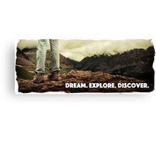 Dream Explore Discover Live Canvas Print