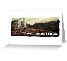 Dream Explore Discover Live Greeting Card