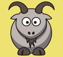Cartoon Goat One Piece - Short Sleeve