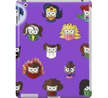 Nerd Girl (Owls) - Purple iPad Case/Skin