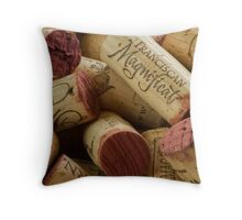Wine corks close up Throw Pillow