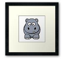Cartoon Hippopotamus Framed Print