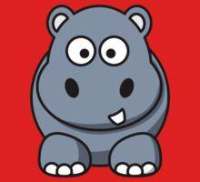 Cartoon Hippopotamus Kids Tee