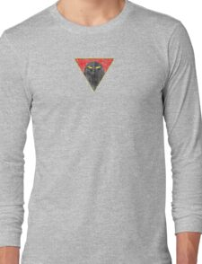 Space Ghost - Chest Symbol - Black Dirty Long Sleeve T-Shirt