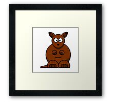Cartoon Kangaroo Framed Print